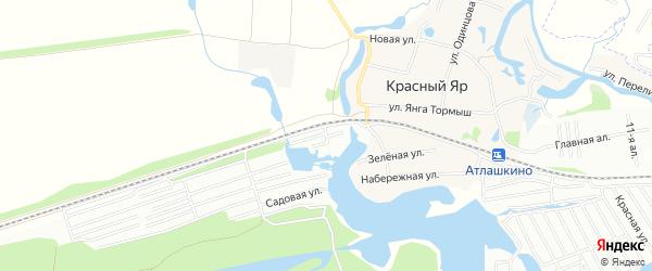 Садовое товарищество Дружба(совхоз Овощевод) на карте Зеленодольского района Татарстана с номерами домов