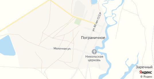 Карта села Пограничное в Саратовской области с улицами, домами и почтовыми отделениями со спутника онлайн