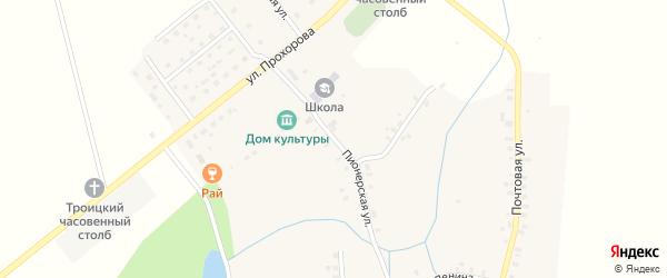 Пионерская улица на карте деревни Карая Марий Эл с номерами домов