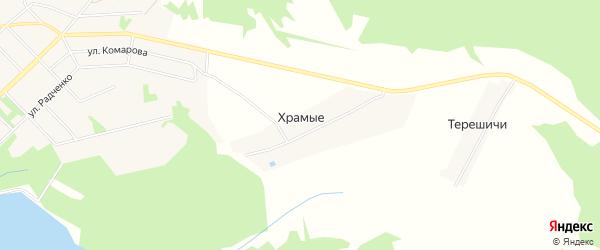 Карта деревни Храмые в Кировской области с улицами и номерами домов