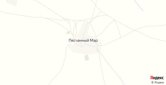 Карта хутора Песчаный Мар в Саратовской области с улицами, домами и почтовыми отделениями со спутника онлайн