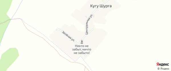 Улица Соловьева на карте деревни Кугу Шурга Марий Эл с номерами домов