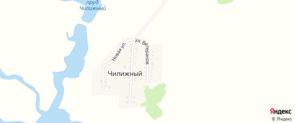 Улица Ветеранов на карте Чилижного хутора Саратовской области с номерами домов
