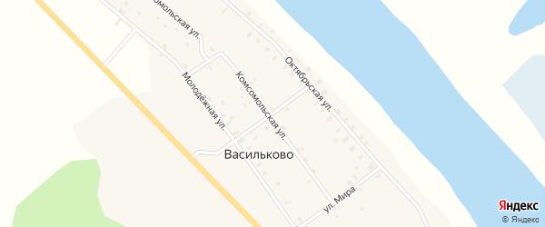Первомайская улица на карте села Васильково Кировской области с номерами домов