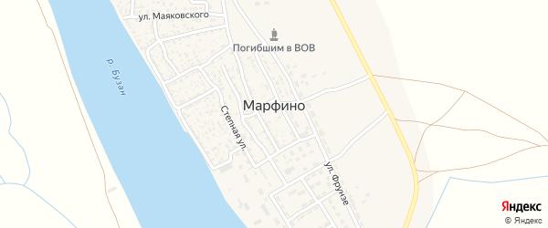 Мелиоративный переулок на карте села Марфино Астраханской области с номерами домов