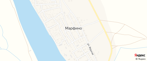 Переулок Мира на карте села Марфино с номерами домов