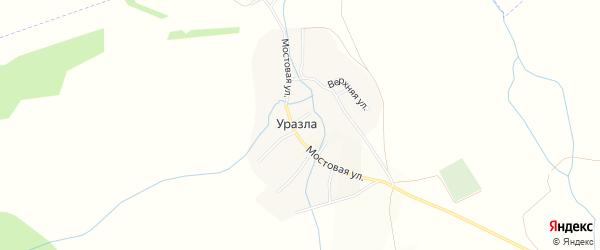 Карта села Уразлы в Татарстане с улицами и номерами домов