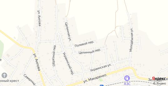 Полевой переулок в Октябрьске с номерами домов на карте. Спутник и схема онлайн