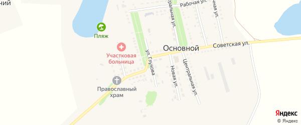 Улица Глухова на карте Основного поселка Саратовской области с номерами домов