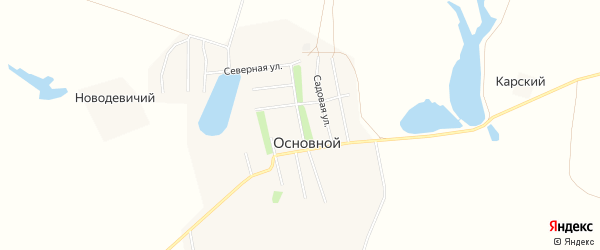 Карта Основного поселка в Саратовской области с улицами и номерами домов