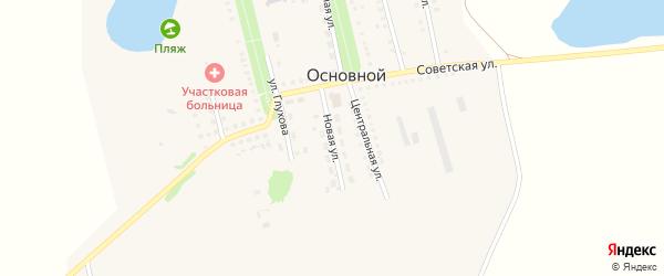 Новая улица на карте Основного поселка Саратовской области с номерами домов