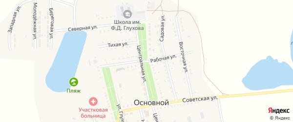 Рабочая улица на карте Основного поселка Саратовской области с номерами домов