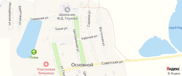 Садовая улица на карте Основного поселка Саратовской области с номерами домов
