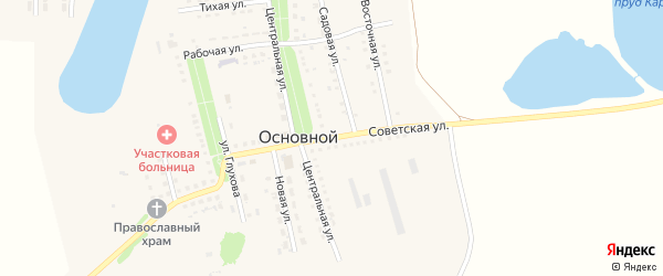 Советская улица на карте Основного поселка Саратовской области с номерами домов