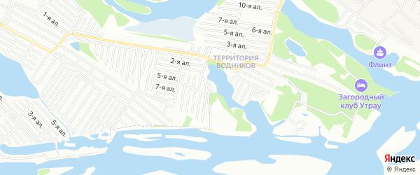 Карта поселка Фарватера в Татарстане с улицами и номерами домов