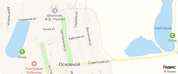 Восточная улица на карте Основного поселка Саратовской области с номерами домов