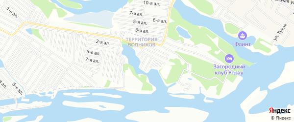 Садовое товарищество Колос(НПО Нива) на карте Зеленодольского района Татарстана с номерами домов