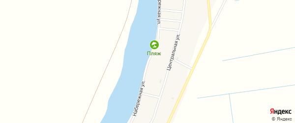 Набережная улица на карте села Мултаново Астраханской области с номерами домов