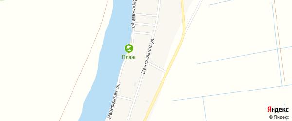 Центральная улица на карте села Мултаново Астраханской области с номерами домов