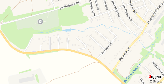 Сенгилеевская улица в Сенгилее с номерами домов на карте. Спутник и схема онлайн