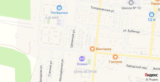 Октябрьский 2-й переулок в Пугачеве с номерами домов на карте. Спутник и схема онлайн