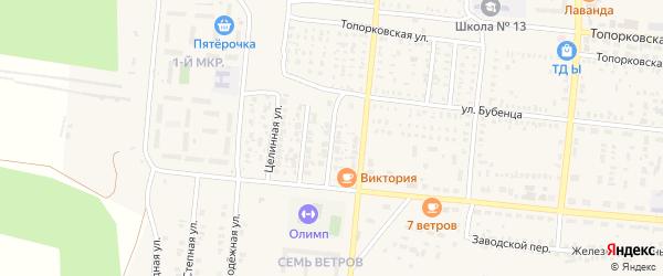 Октябрьский 1-й переулок на карте Пугачева с номерами домов