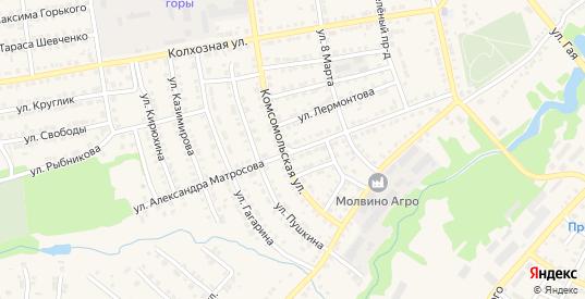 Улица А.Матросова в Сенгилее с номерами домов на карте. Спутник и схема онлайн