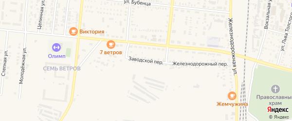 Заводской переулок на карте Пугачева с номерами домов