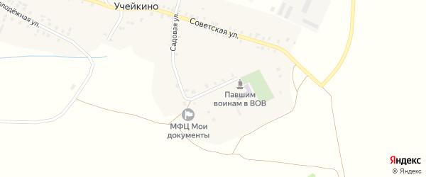 Школьная улица на карте деревни Учейкино Марий Эл с номерами домов