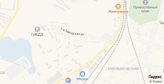 Заводская 1-я улица в Пугачеве с номерами домов на карте. Спутник и схема онлайн