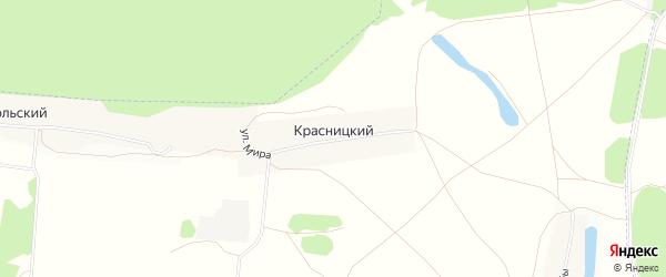 Карта Красницкого поселка в Татарстане с улицами и номерами домов