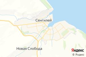 Карта г. Сенгилей Ульяновская область