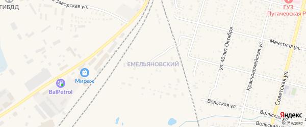 Емельяновский поселок на карте Пугачева с номерами домов