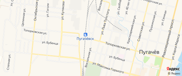 Территория сдт Энтузиаст на карте Пугачева с номерами домов