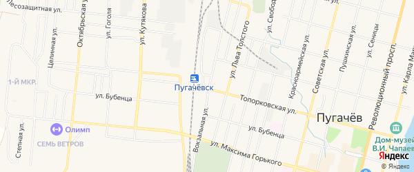 Территория сдт Сказка на карте Пугачева с номерами домов