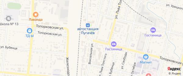 Камышинская улица на карте Пугачева с номерами домов