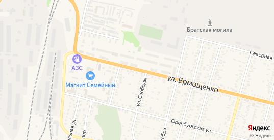 Улица Ермощенко в Пугачеве с номерами домов на карте. Спутник и схема онлайн