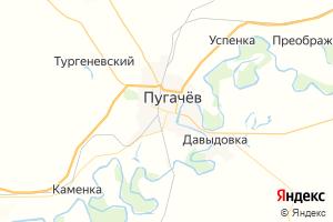 Карта г. Пугачёв Саратовская область