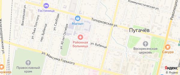 Красноармейская улица на карте Пугачева с номерами домов