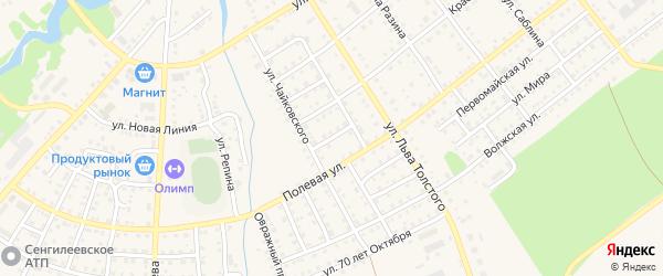 Улица Зои Космодемьянской на карте Сенгилея с номерами домов