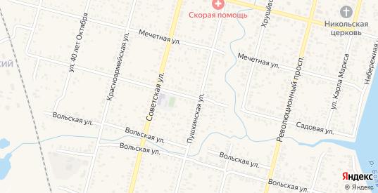 Садовая улица в Пугачеве с номерами домов на карте. Спутник и схема онлайн