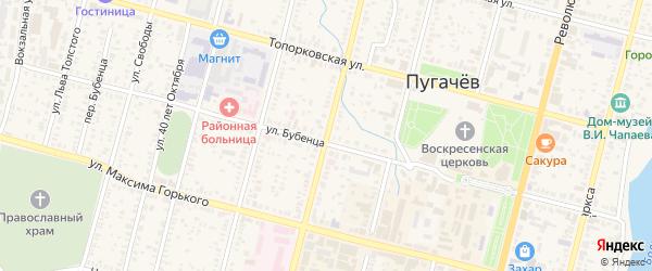 Советская улица на карте Пугачева с номерами домов