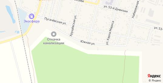 Южная промышленная зона в Пугачеве с номерами домов на карте. Спутник и схема онлайн