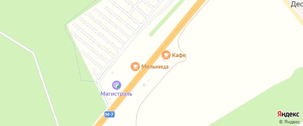 774-й километр на карте территории Федеральной автомобильной дороги М7 Волги Татарстана с номерами домов