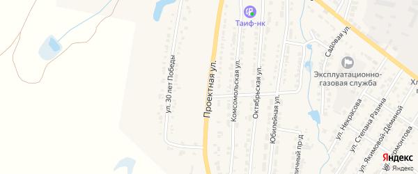 Проектная улица на карте Тетюшей с номерами домов