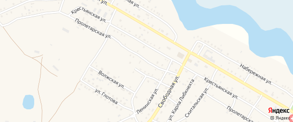 Пролетарская улица на карте села Обшаровки Самарской области с номерами домов