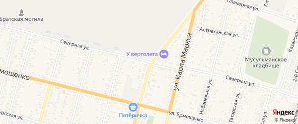 Северная улица на карте Пугачева с номерами домов