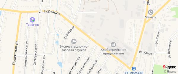 Улица Горького на карте Тетюшей с номерами домов