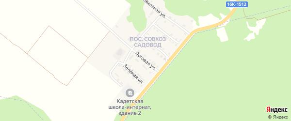 Луговая улица на карте Тетюшей с номерами домов