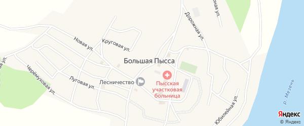Юбилейная улица на карте села Большей Пыссы Коми с номерами домов